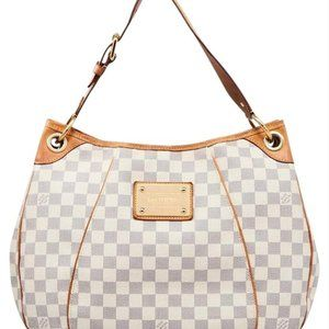Louis Vuitton Cream Damier Azur Galliera Hobo